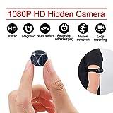 Camera Espion, Camera Surveillance sur Batteries Cachée avec Vision Nocturne, Caméra de Surveillance Extérieure, Détection de...