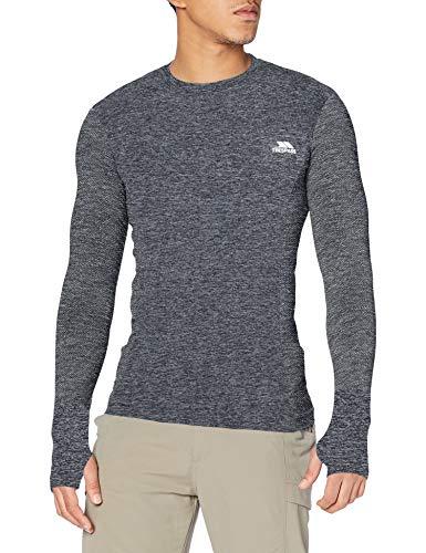 Trespass Timo T-Shirt à Manches Longues Homme, Noir, FR : 2XL (Taille Fabricant : XXL)