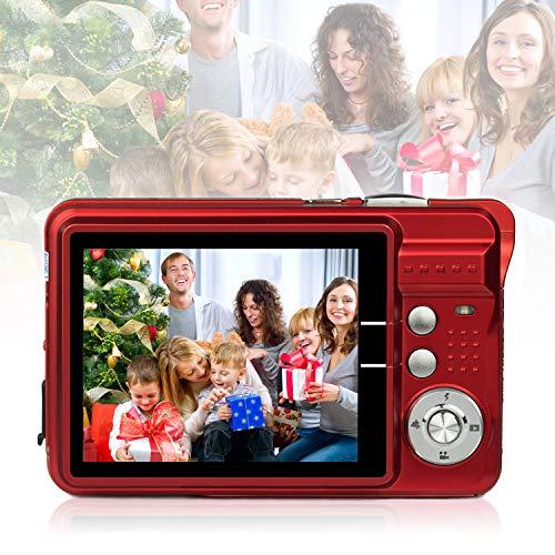Digitalkamera 1080HD Foto Kamera Digital 2,7 Zoll 18 MP Mini Digital Kamera mit 8X Digitalzoom Fotoapparat Digitalkamera Geschenk Kompaktkameras für Kinder Erwachsene Studenten Anfänger(Rot)