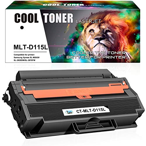 Cool Toner Compatible Toner Cartridge Replacement for Samsung MLT-D115L 115L Samsung Xpress SL-M2830DW SL-M2880FW SL-M2820DW SL-M2620 SL-2620ND SL-2820ND M2670 M2670FN M2670N M2870FD (Black, 1-Pack)