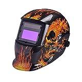 nuzamas funciona con energía solar auto oscurecimiento soldadura casco máscara de soldadura fuego calavera cara protección para Arc Tig Mig de Molienda de corte por plasma con pantalla