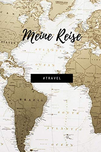 Meine Reise: Version: Weltkarte | Schönes Reisetagebuch & Urlaubsnotizbuch/-planer | Gepunktetes Notizbuch mit 120 Seiten zum Selberschreiben | ... Frauen, Kinder und alle Weltenbummler - 6x9