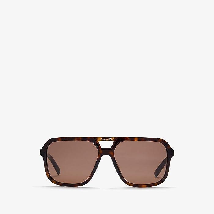 Dolce and Gabbana  DG4354 (Havana/Brown) Fashion Sunglasses