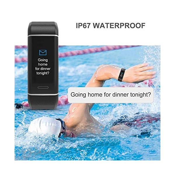 YOUNGDO Pulsera Actividad GPS, 24 modos deportivos Monitor pantalla en color monitor de ritmo cardíaco, GPS incorporado… 8