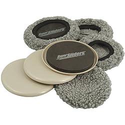 in budget affordable SuperSliders4703895N Reusable 2-in-1 Furniture Carpet Slider with Hardwood Socks -…