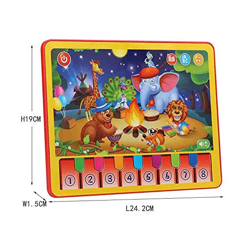 Axiba Animal Learning Tablet Music Toddler Pad Early Educational Learning Toy for Kids Best Gifts