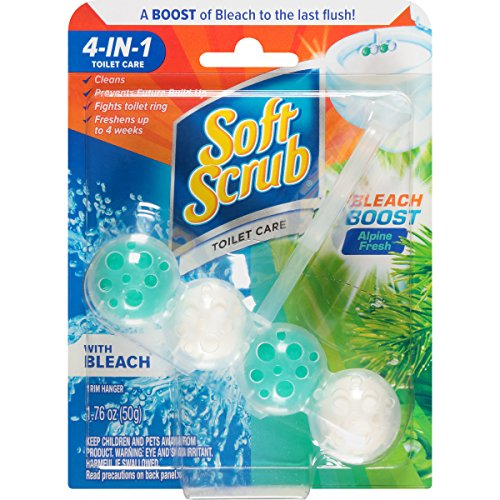 Soft Scrub 4-in-1 Toilet Care with Bleach, Alpine Fresh, 50 Gram (Color may vary)