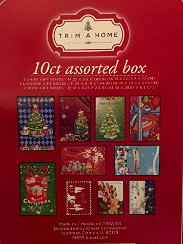 Trim a Home 10ct Assorted Box Lot 10 Boxes with Christmas Designs