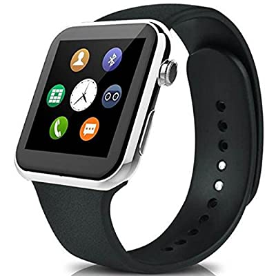 Lincass Bluetooth Smartwatch for iPhone and Android Heart Rate Monitor Smart Watches IP67 Waterproof for Android iOS