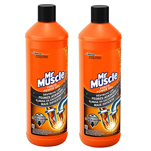 Mr Muscle - Forza Desatascador Gel Power, limpia tuberias, 2 Unidades 2000 ml