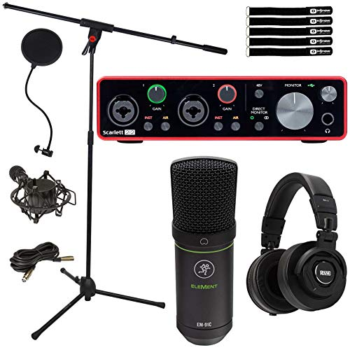 For Sale! Scarlett 2i2 USB Audio Interface Home Studio Recording Pack with Microphone and Headphones