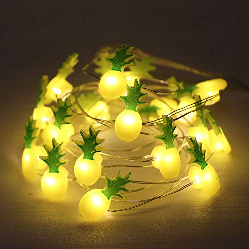 GUOCHENG 2.2m Pineapple Accessories LED String Light Silver Wire String Light Sign for Home Party Bedrroom, Micro Starry Light Decor(Pineapple)