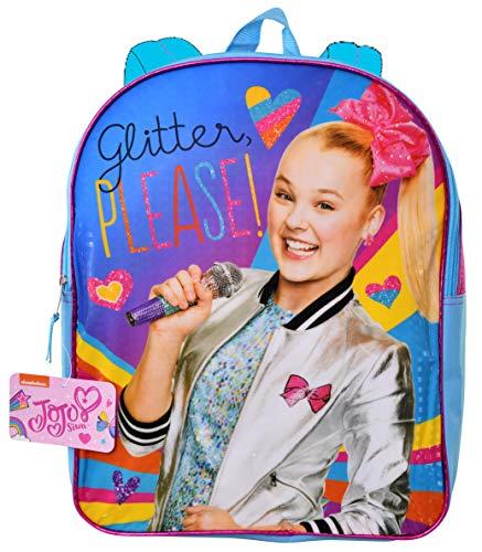 JoJo Siwa'Glitter Please' 15' Plain Front Backpack