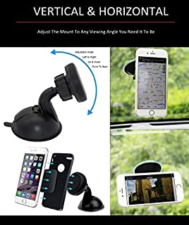 Cell Phone Holder for Car Accessories Universal Magnetic Car Phone Mount Sticky Pad Capable of Vertical and Horizontal Display Full Kit Included 62261 Pink
