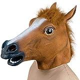 Demarkt Pferdemaske Pferde Kostüm Maske Latex Tiermaske Pferdekopf Erwachsene Pferd Maske für...
