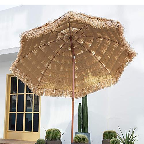 Sombrillas Portátiles para La Playa 2.1m con Mecanismo De Inclinación Paraguas Hawaiano para La Mesa De Patio para La Playa/Piscina/Patio Paraguas Protector Solar