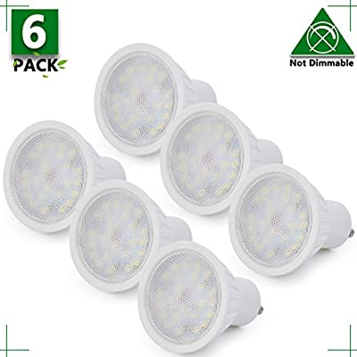 MR16 GU10 LED Light Bulb, Non Dimmable, 5W (45W Equivalent), 2700K Warm White, 120° Beam Angle, 500Lm, 120 Volt Track Lighting, Recessed Light, 2 YEARS WARRANTY, Pack of 1