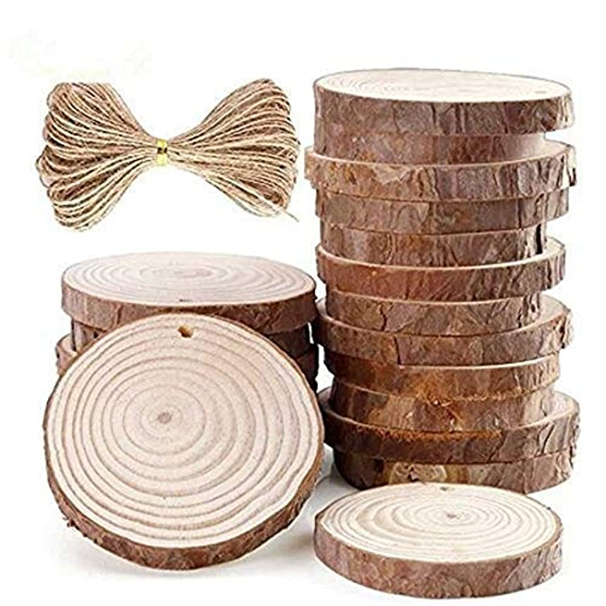 Natural Wood Slices 15pcs 2.8