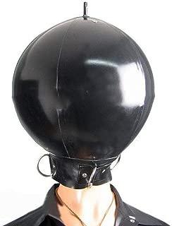 Inflatable Latex Mask Ball Hood Latex Cosplay Inflatable Mask Halloween Mask with Dring (XL)