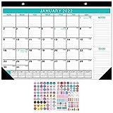 Calendario 2021-2022 da muro,Pianificazione Calendario da Parete con Adesivi,18 mesi Planner luglio 2021 - dicembre 2022,per Casa Scuola Ufficio 43 X 30,5 cm