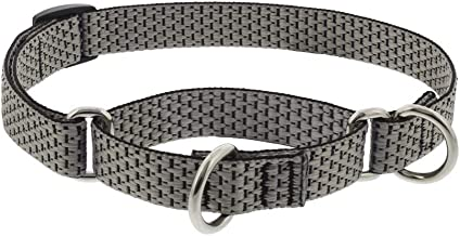"""Lupine Martingale Small Dog Collar ECO Collection 3/4"""" Wide Granite adjusts 10"""" to 14"""""""