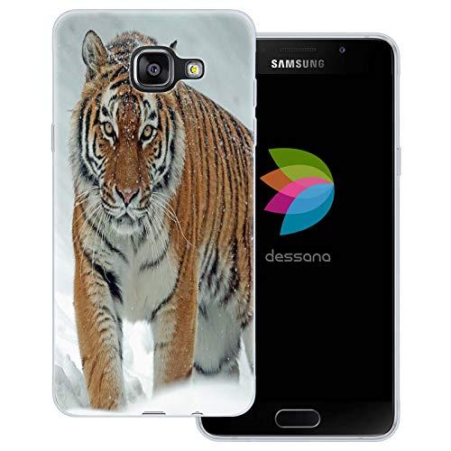 dessana Tiger - Cover trasparente per Samsung Galaxy A5 (2016), motivo: tigre sulla neve