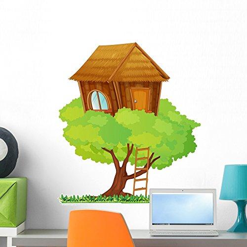 Wallmonkeys WM166635 Tree House Peel and Stick Wall Decals (24 in H x 23 in W), Medium