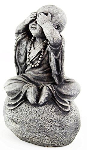 Fleur de Lis Garden Ornaments LLC See No Evil Monk Wise Statues Concrete Buddhas Figures