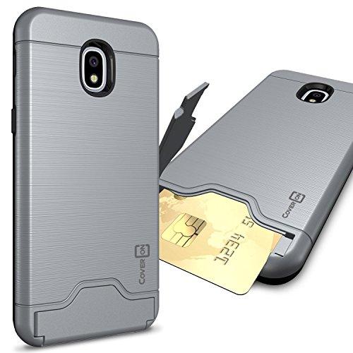 CoverON SecureCard Series for Samsung Galaxy J3 2018 / Express Prime 3 / J3 Star / J3 Prime 2 / Amp Prime 3 / Eclipse 2 / J3 Aura/Achieve Case - Gunmetal Gray