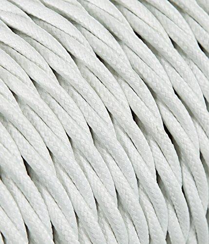 merlotti 40292Cable eléctrico Trenzado frrtx 3x 1.50, Color Blanco, 10m
