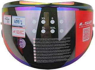 LS2 FF399 Valiant Motorrad Helmet Visier Pinlock Ready Verspiegelt (Rainbow)