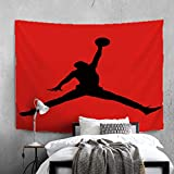TMATUTA MichaelJordan-23 Tapestry Basketball Hanging Tapestry for Wall