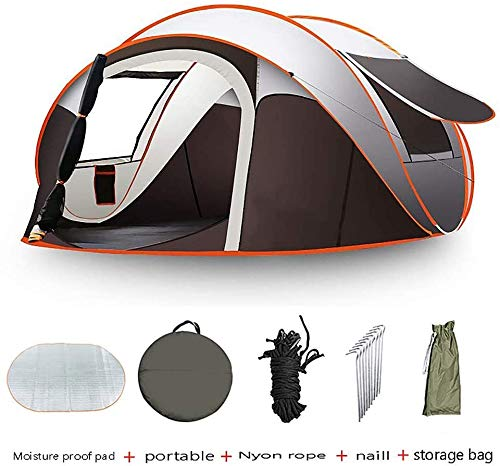 5-8 Person Pop Up Tent, Lightweight 5-8 Man Festival Camping Tent, Windproof Waterproof UV...