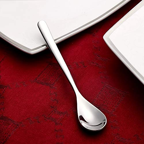 Great Price! Marceooselm 10 stainless steel coffee spoon creative long handle coffee spoon stirring ...