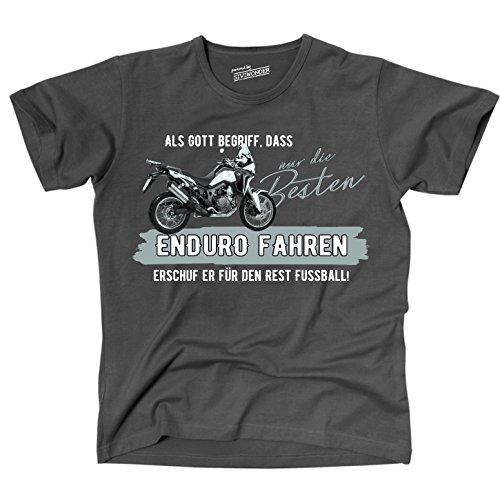 Siviwonder Gott besten Enduro Fahren Vintage Bike NO Fußball Motorrad - Unisex T-Shirt Shirt Dark Grey L