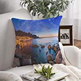 Decorative Throw Pillow Cover for Couch South Head Cape Rocks City Car Towns Table Waves Mountain Lions Nature Tourist Mountains Africa Modern Bed Sofa Pillows Case Pillowcase 16x16 Inch