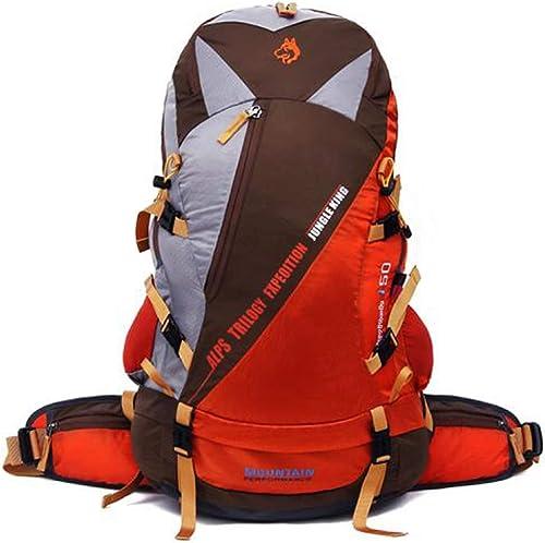 Suyifan 50L Grande capacité Ultra léger Nylon Sac d'alpinisme Sac à Dos Voyage Sac à Dos Plein air Camping Sport Sac à Dos