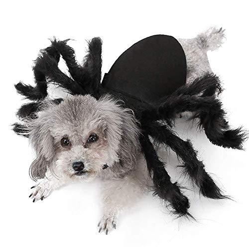 Disfraces de Halloween de la araa for los pequeos perros de perrito y gatos Scary perro de mascota y trajes de gato gigante Simulacin Tarantula Cosplay del vestido de arriba del traje, del gato ZZA