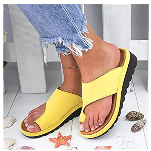 2019 Neu Womens Fashion Flats Open Toe Ankle Beach Shoes Roman Slippers Sandals Mode Retro Damen Big Toe Hallux Valgus Unterstützung Plattform Sandale Schuhe Für Die Behandlung,Schwarz,Grau,Silber