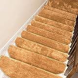 Paquete de 15 alfombras de peldaños para escaleras, Antideslizantes, Autoadhesivas y de fácil instalación, Seguridad, Antideslizantes, para niños, Ancianos y Perros, cómodas y Suaves