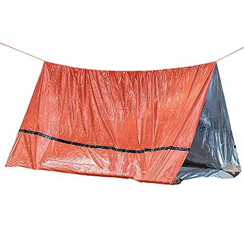 Carpa Triangular para Acampar,Carpa Supervivencia Térmica Reflectante Impermeable Emergencia, Adecuada para Actividades al Aire Libre,Senderismo (240x150cm)