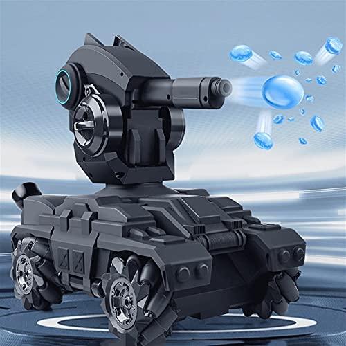 UimimiU 2.4 GHz Tanque de control remoto 4WD Un vehículo todoterreno de tracción en las cuatro ruedas que puede lanzar una bola de agua Mech contra un truco Drift 360 ° Rolling Rolling Rolling Folleto