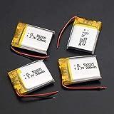 Batería Recargable 3 7V 200mAh 502025 Li-Polymer para Smart Watch PSP Luces LED Bluetooth Altavoces Mini cámaras-4 Piezas