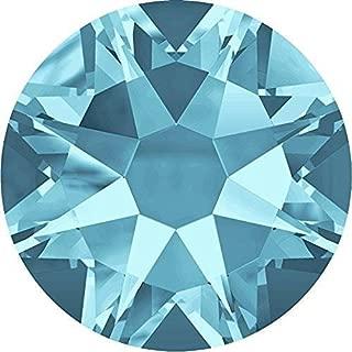 2000, 2058 & 2088 Swarovski Flatback Crystals Non Hotfix Aquamarine   SS16 (3.9mm) - Pack of 50   Small & Wholesale Packs