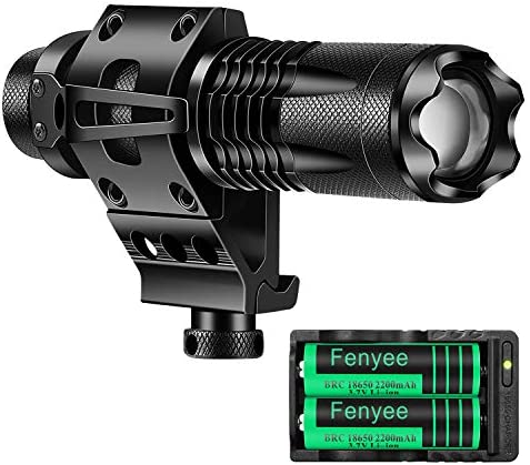 Fenyee Tactical Flashlight Adjustable 350 Yards 1200 Lumen LED Light with Offset Mount for Outdoor product image
