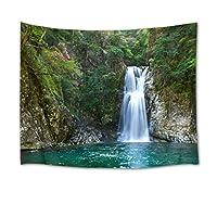 LB 壁掛けタペストリー 自然風景 森の滝 壁掛け おしゃれ インテリア 多機能 布 装飾品 壁飾り 間仕切り 気分転換(150x100cm)