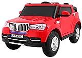 BSD Elektro Kinderauto Elektrisch Ride On Kinderfahrzeug Elektroauto Fernbedienung - S8088 AIR Gepumpte Räder 2-Sitzer - Rot