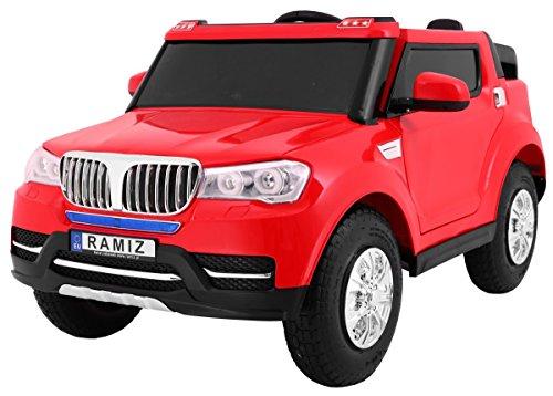 RC Auto kaufen Kinderauto Bild: BSD Elektro Kinderauto Elektrisch Ride On Kinderfahrzeug Elektroauto Fernbedienung - S8088 AIR Gepumpte Räder 2-Sitzer - Rot*