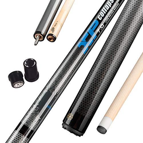 Collapsar XP02 Jump Break Cue Pool Sticks 58 Inch 3-Piece Maple Shaft Quick Release Joint 19.5 20 OZ (Blue, 19.5OZ)