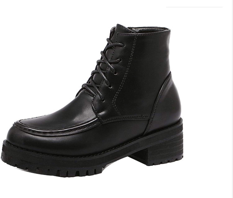 Ladola Womens Round-Toe Urethane Boots